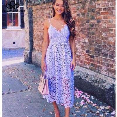 Poise crocia summer strap Dress