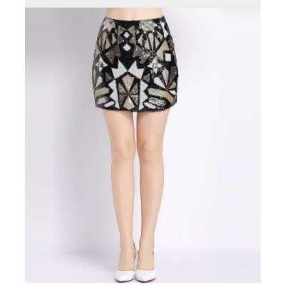 Niti Sequin Embelished short skirt