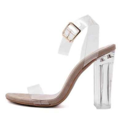Transparent Chunky Ladies Sandals