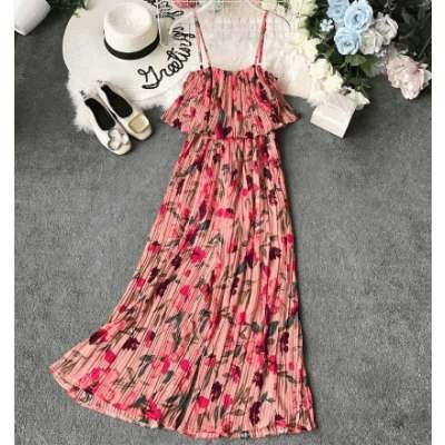 Women Printed Floral Ruffled Chiffon Jumpsuits