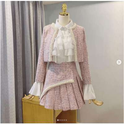 Jassy Tweed Blazer 2 Pc Set without shirt