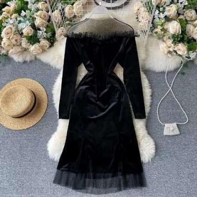 Myla velvet plus size party dress