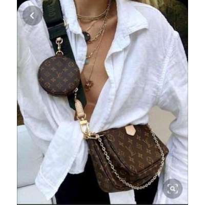 lv sling bag with 3 changeable straps