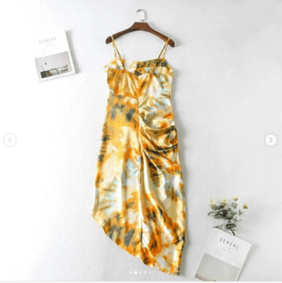 Dazzy Floral Gathered Dress