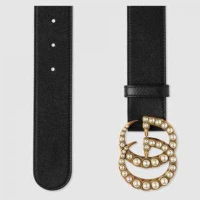 Gucci inspired pearl embellished belt