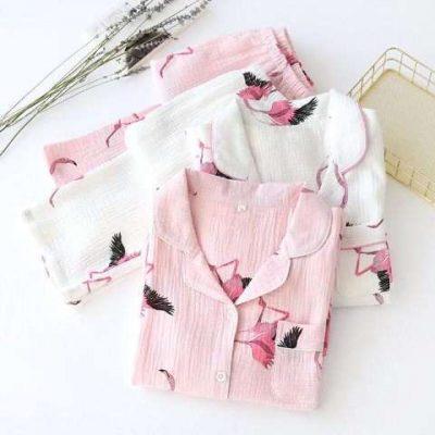 Lapster Cotton full sleeve night suit pj set