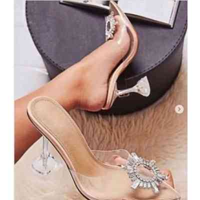 new pvc transparent pumps perspex heel spike high heels