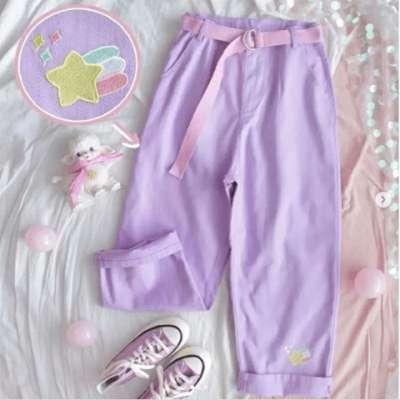 Shisho lilac Mom Fit Pants
