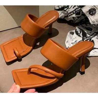 square  toe thin high heel sandals