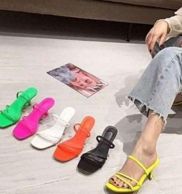 boussac vintage square toe sandals