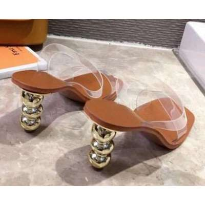 Slippers Square Toe Transparency PVC Sandals