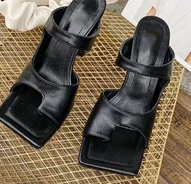 Square Toe High Heels Sandal