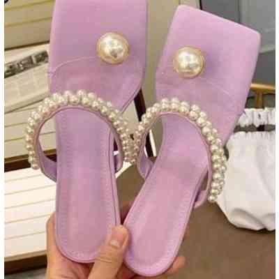 Eilyken String Bead Design Slippers Flip Flops