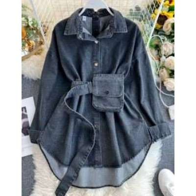 Mycell Boyfriend Loose style Shirt with Bag