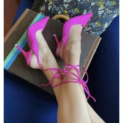 new style pointed toe high heel strap