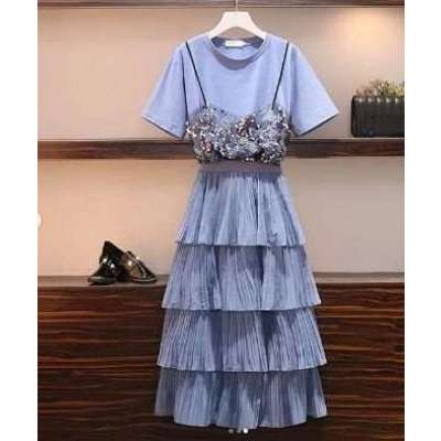 Buana Summer tee and skirt set