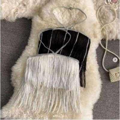 Felisa Tassel and cotton Crop Top