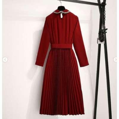 Kindy Pleated Dress