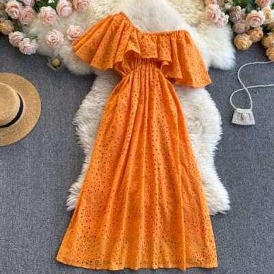 Zenette Cotton maxi boho beach casual dress