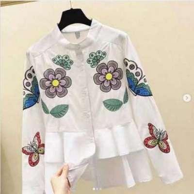 Poppy Floral Cotton Shirt