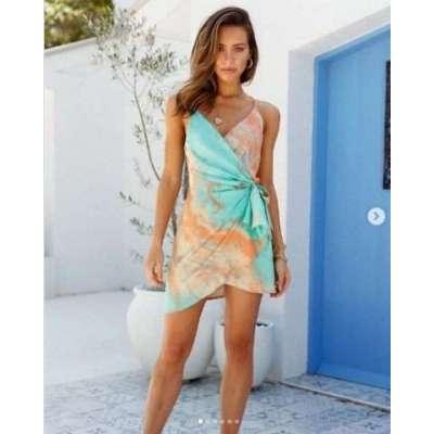 Naish Tie-dye Strappy Dress