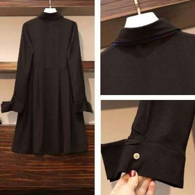 moline bow shirt plus size dress