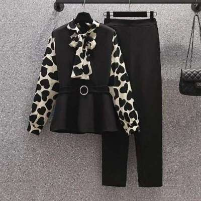 Hearsa coord set top and pant set plus size
