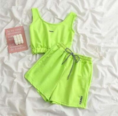 Friends casual summer coord track active set
