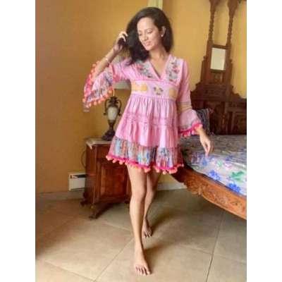 Gimbi cotton beach summerboho dress