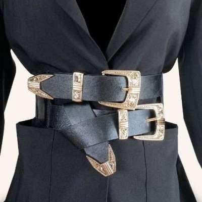 Muhir Double Buckle Corset belt
