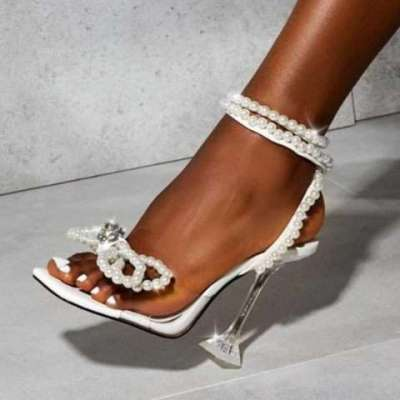Lia Pearl Strap ankle tie up
