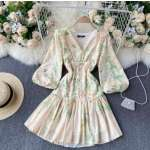 Nori full sleeve floral dress