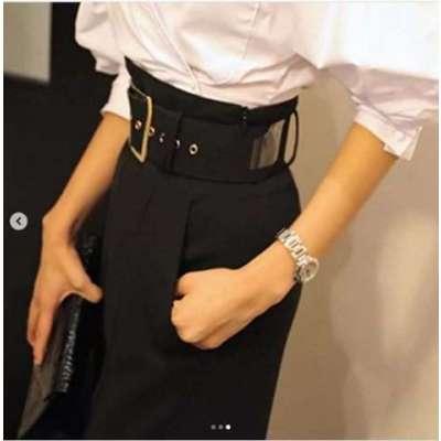 Zarda High Waist Straight Fit Formal Pants